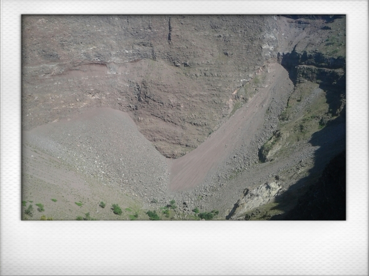 Crater of the volcano